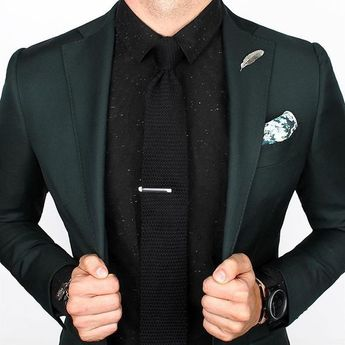 Shaded Spruce, green suit, what to wear with a green suit