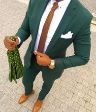 2019 Wedding Colors, 2019 Wedding Colours, Deep Green Suit, Forest Green Suit